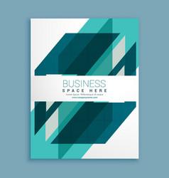 blue geometric brochure design template vector image vector image
