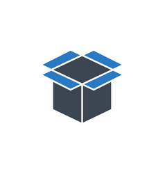 box related glyph icon vector image