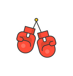 boxing gloves filled outline icon vector image