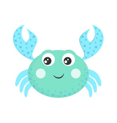 cartoon crab isolated on white vector image