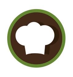 Chef hat silhouette icon vector