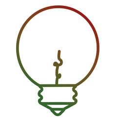 christmas bulb light icon vector image