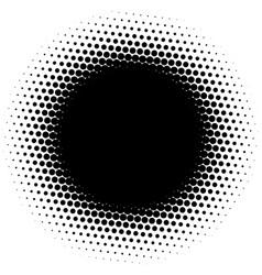 circle half tone element over white circular vector image