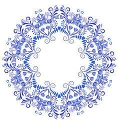 circular ornament frame floral pattern in the vector image