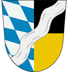 Coat of arms of munich is a district in bavaria vector