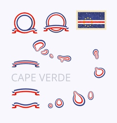 Colors of Cape Verde Cabo Verde vector