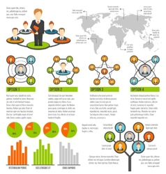 Connected people infographics vector