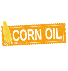 corn oil grunge rubber stamp vector image