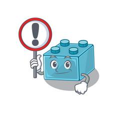 Cute mascot character style lego brick toys vector