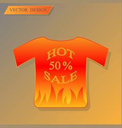 discount bannert-shirt with vector image