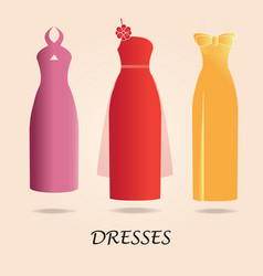Dresses isolated on background vector