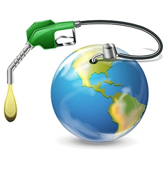 Earth with petrol pump vector