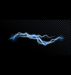 electricity lightning thunderbolt realistic vector image