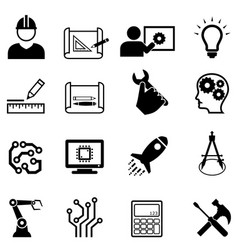engineering and design web icons vector image