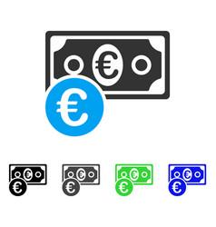 Euro cash money flat icon vector