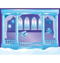 Fairytale Ice Palace Ballroom vector image