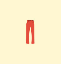 flat icon trousers element of vector image