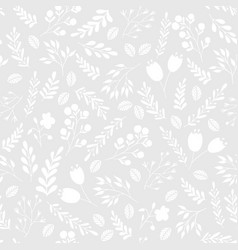 Floral seamless pattern with flowers and plants vector