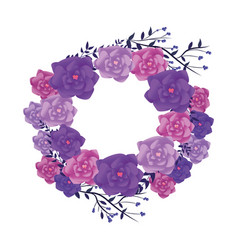 flowers round frame vector image