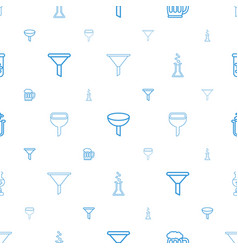 Fluid icons pattern seamless white background vector