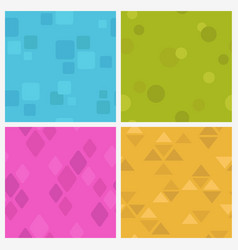 funny colorful seamless pattern set vector image