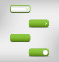 Green empty rectangular buttons vector image