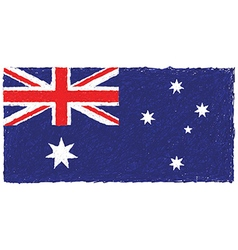 Hand drawn of Australian flag in white background vector