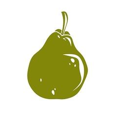 Harvesting symbol fruit isolated Single organic vector