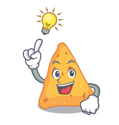 Have an idea nachos mascot cartoon style vector