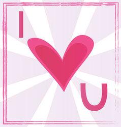 I love U vector