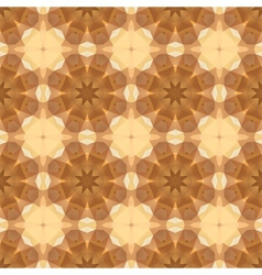 Kaleidoscope abstract gold pattern vector