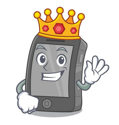 King ipad in a cartoon shape vector
