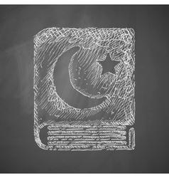 Koran icon vector