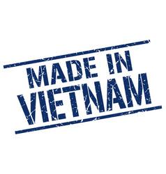 made in vietnam stamp vector image