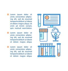 Medicine article page template vector