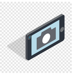Mobile camera isometric icon vector