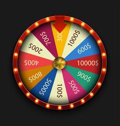 Modern fortune wheel on black background vector