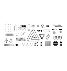 Modern geometric shapes collection vector