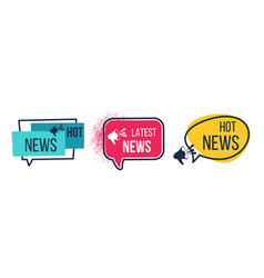 News badges daily hot latest and breaking vector