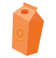 orange juice on white background vector image