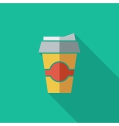 Paper fast food cup vector