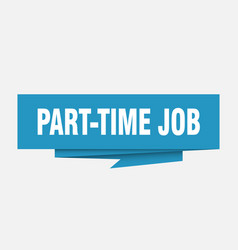 part-time job vector image