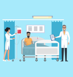 patient in hospital room on vector image