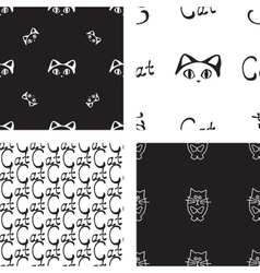 Pattern with cat and mouse vector