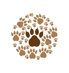 paw print icon design template vector image