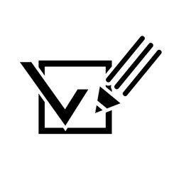 Pencil and a tick box vector image