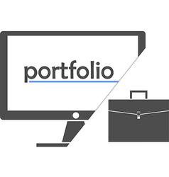 portfolio vector image