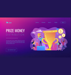 Prize pool concept landing page vector