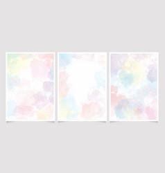 Rainbow pastel unicorn candy watercolor vector