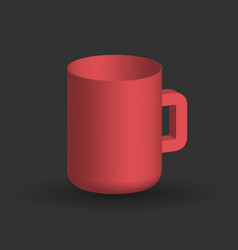 red cup on a black background vector image